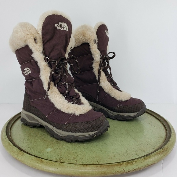 The North Face Lined Pac Boots Brown